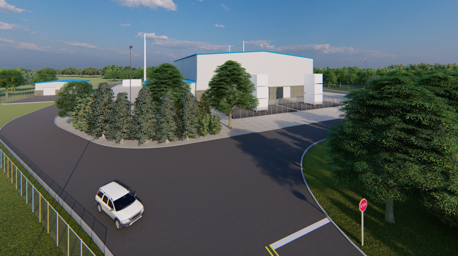 Substation Rendering Property of Anbaric Development Partners